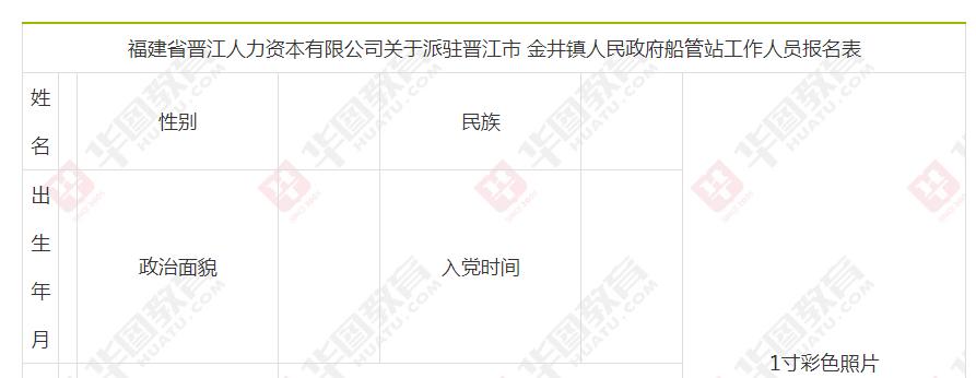 福建泉州晋江市金井镇人民政府船管站招聘公告